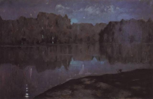 Исаак Ильич Левитан - Ночь. Берег реки. Конец 1890-х