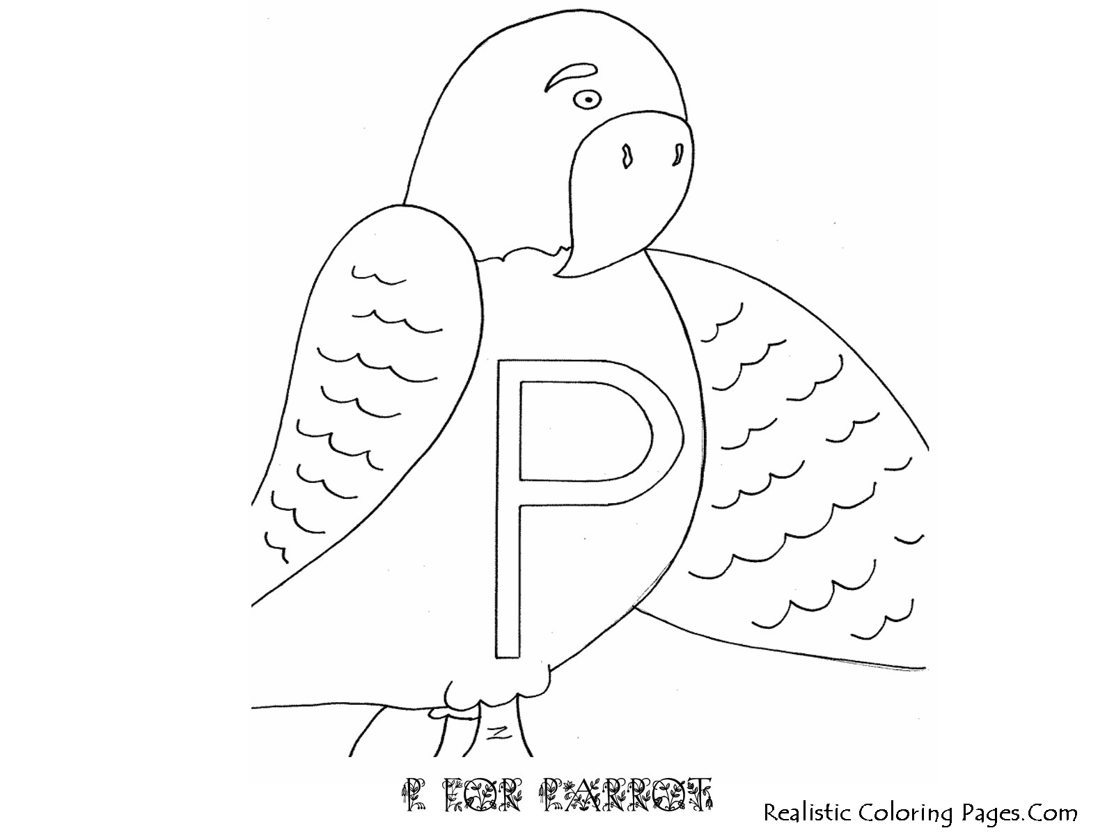 P Letters Alphabet Coloring Pages