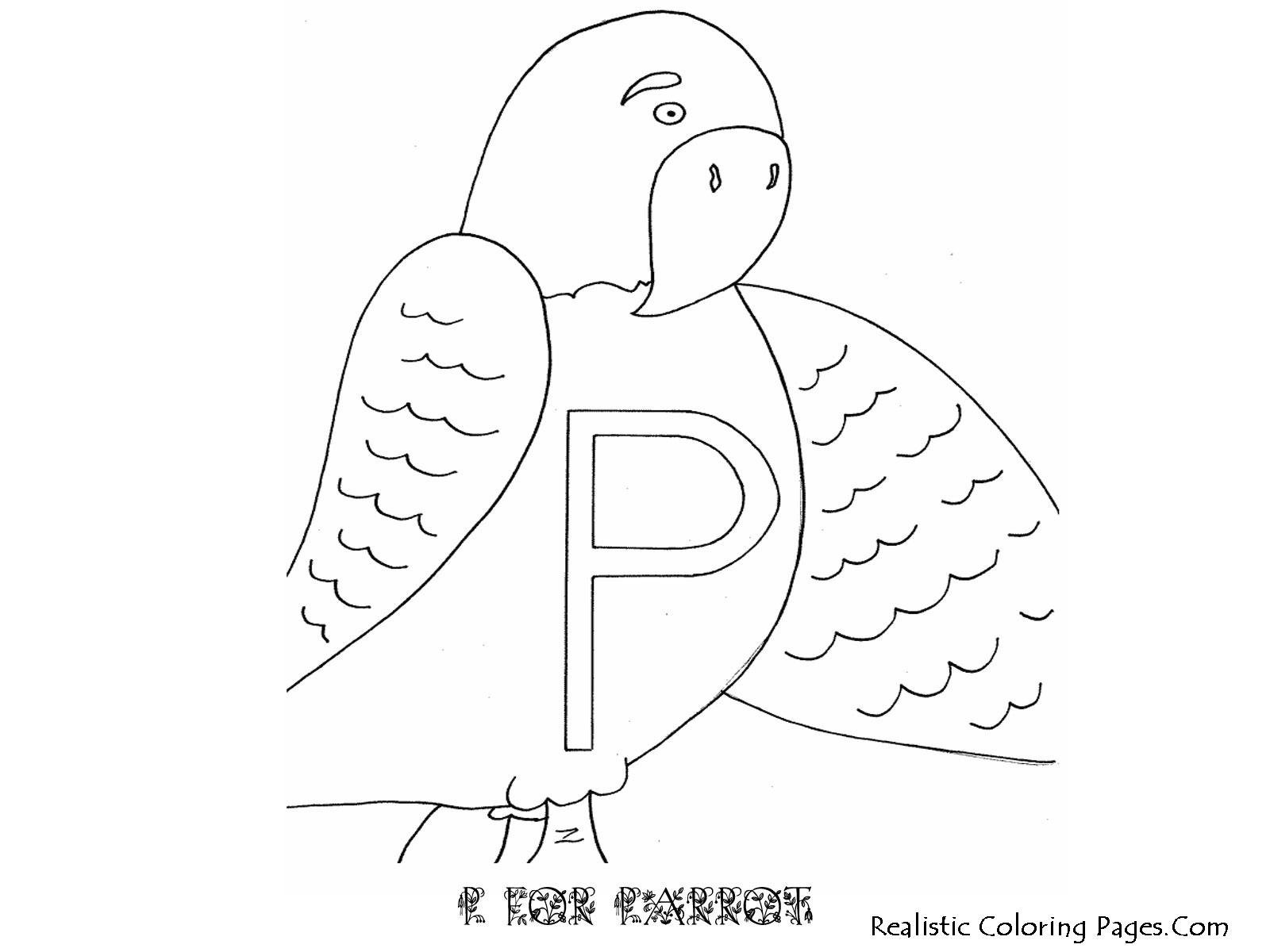 P Letters Alphabet Coloring Pages