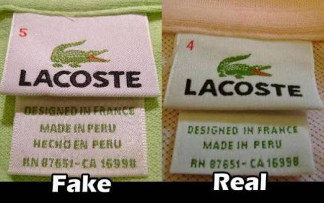 بالصور شاهد كيف تميّز بين الماركات الأصلية والمقلدة؟ لكي لا تنخدع مجدداً عند ملابسك
