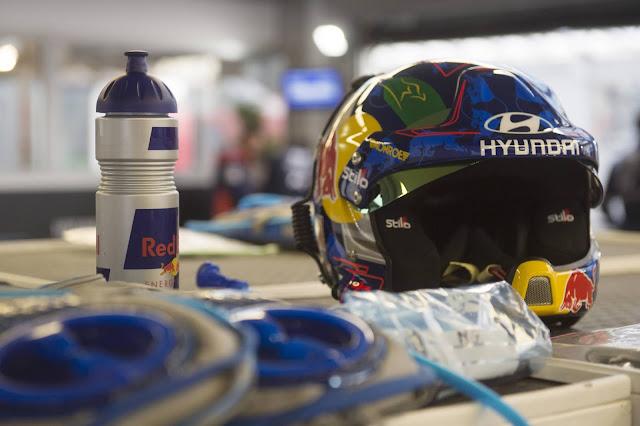 Hyundai Rally team crash helmet, drinks bottle and camelbag