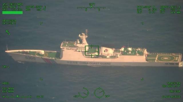 Kepergok Patroli TNI AL, Ternyata China Kirim Kapal Perang Fregat Raksasa Jiangkai Class ke Natuna Utara