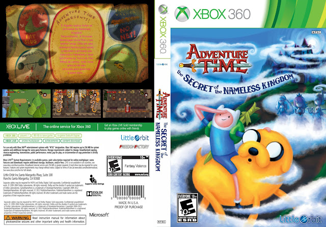 Capa xBox360 Adventure Time The Secret of the Nameless Kingdom