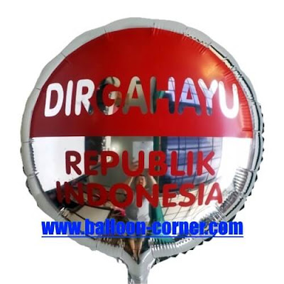Balon Foil Bulat DIRGAHAYU REPUBLIK INDONESIA