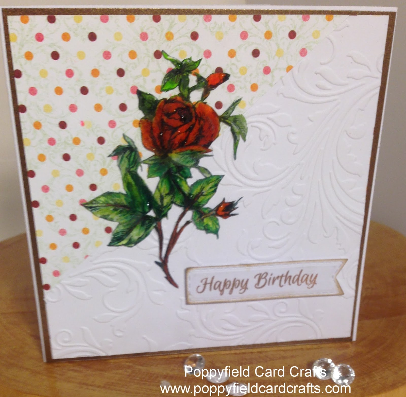 Poppyfield Card Crafts Using Your Left Over Papers Card And