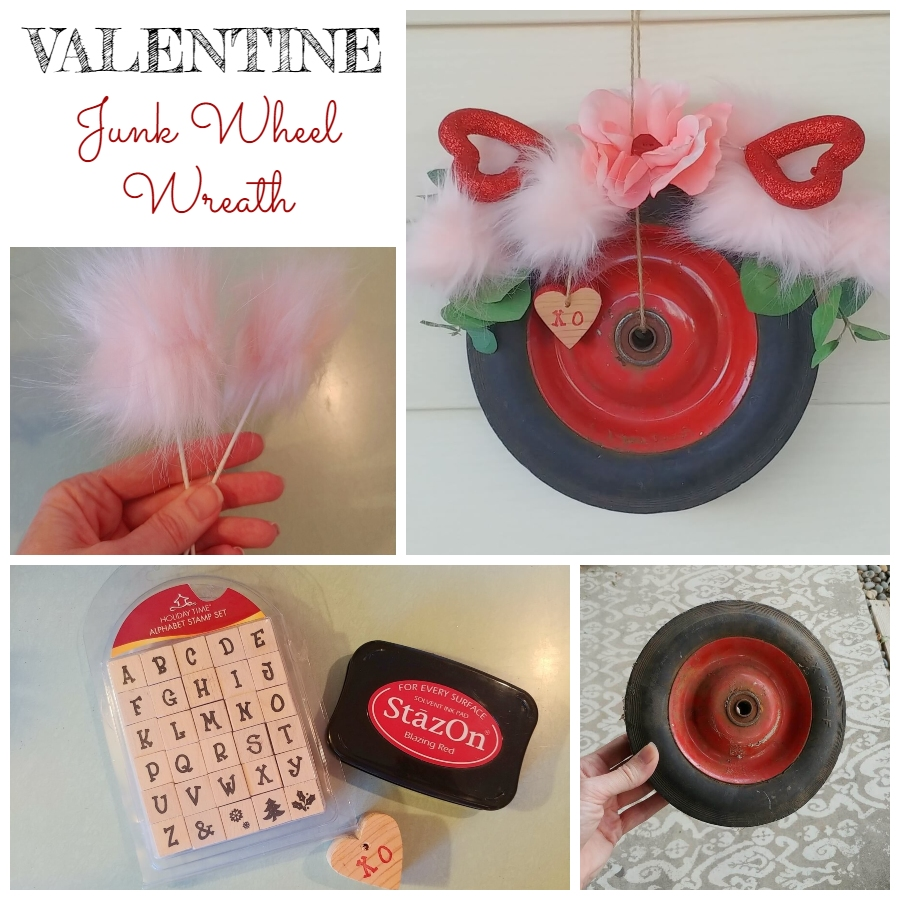 Valentine Junk Wheel Wreath