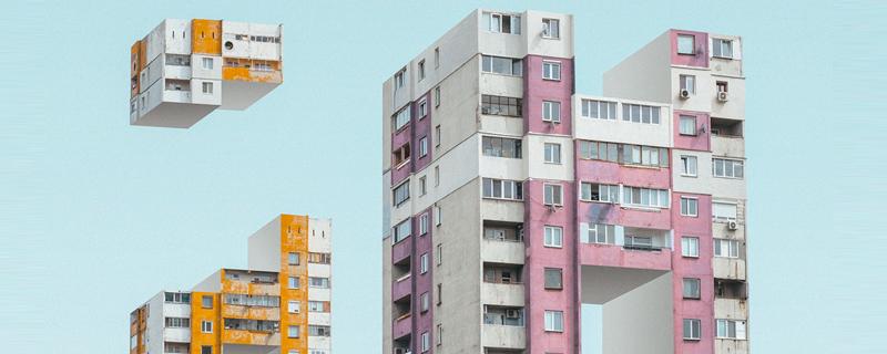 Tetris arquitectónico de la ciudad de Sofía