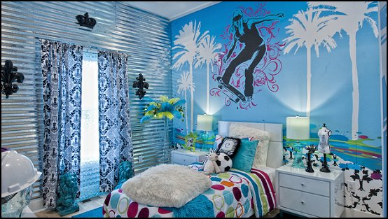 Your daughter is a fan of skateboarding consider these decorating ideas to  create a fun and personalized sports room that represents her favorite  passion.