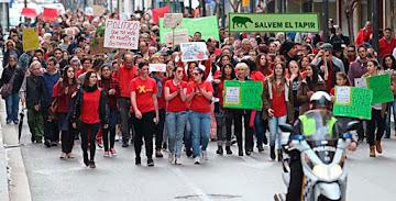 Manifestación por las calles de Ibiza