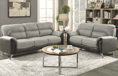 Wraith 2-Piece Leather Sofa Set Furniture Living Room, modern furniture los angeles, living room