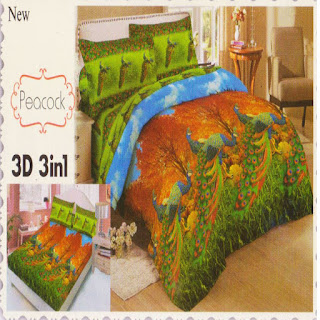 sprei 3d lady rose Peacock