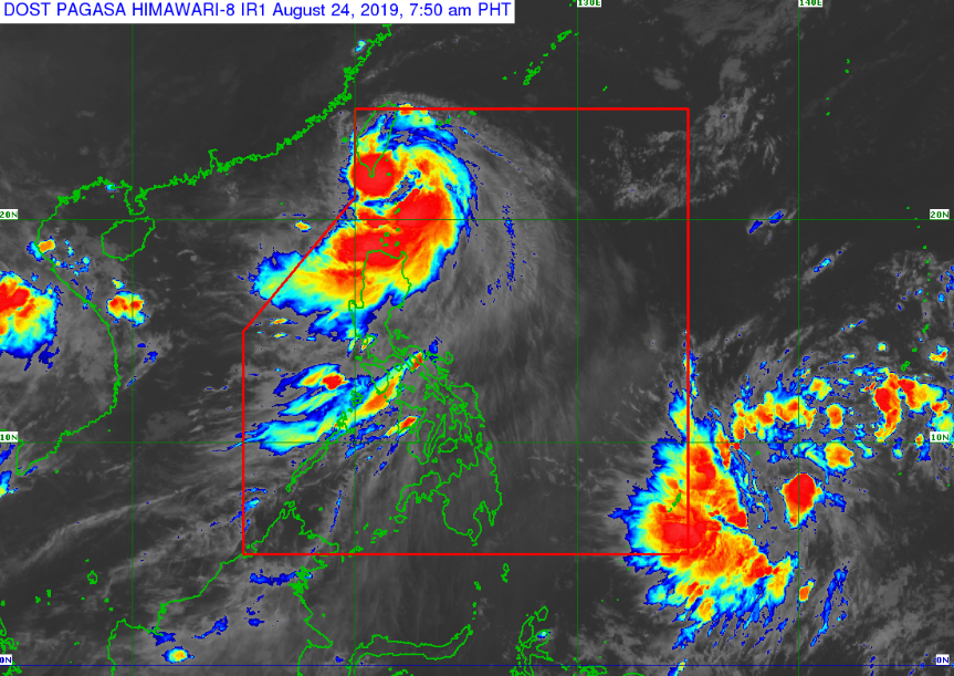 Satellite image of Severe Tropical Storm Ineng as of 7:50am, August 24