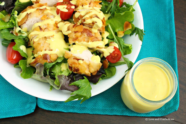 Almond Chicken Salad with Honey Mustard Yogurt Dressing from LoveandConfections.com #StonyfieldBlogger