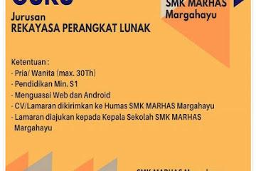 Lowongan Kerja Bandung Guru SMK Marhas Margahayu