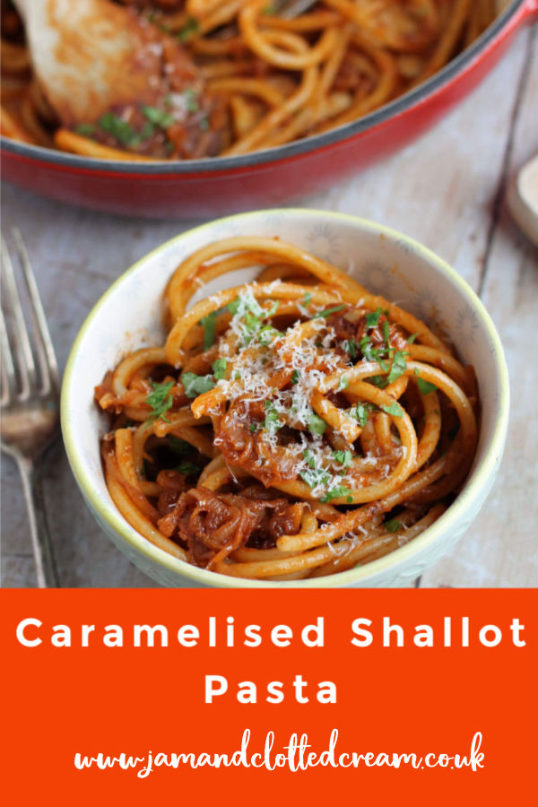 Caramelised Shallot Pasta with sweet shallot, tangy tomatoes and salty anchovies #pasta