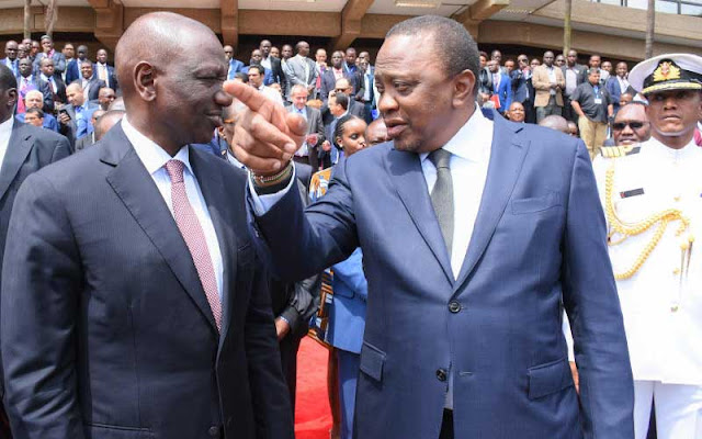 President Uhuru Kenyatta and his Deputy William Ruto
