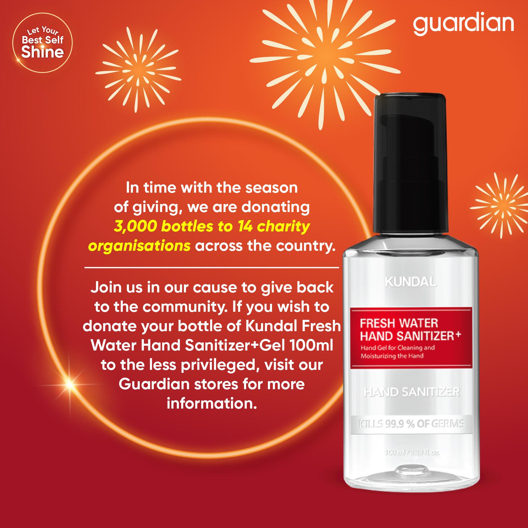 Guardian bakal Agih 15,000 Botol Cecair Pembasmi Kuman Bantu Golongan Memerlukan