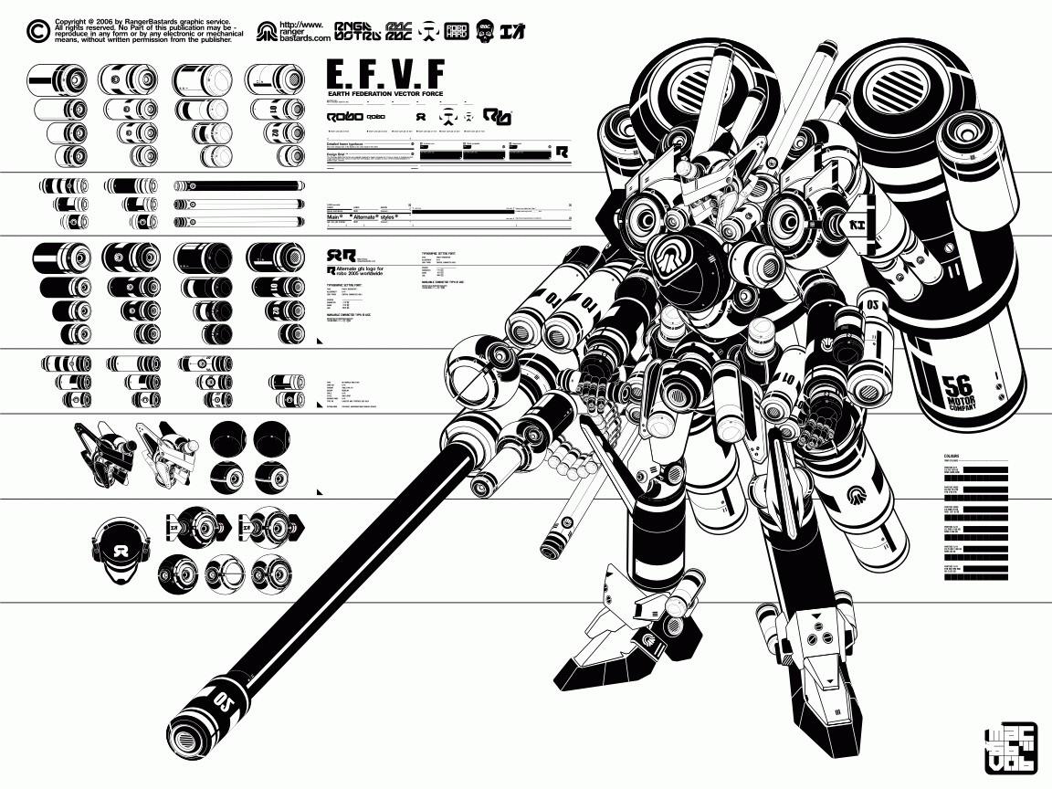 Barking Alien M Is For Mecha Heavy Metal Gear