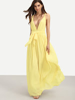 http://www.romwe.com/Yellow-Sleeveless-V-Neck-Tie-Waist-Maxi-Dress-p-175918-cat-724.html?utm_source=beautybygaby.blogspot.com&utm_medium=blogger&url_from=beautybygaby