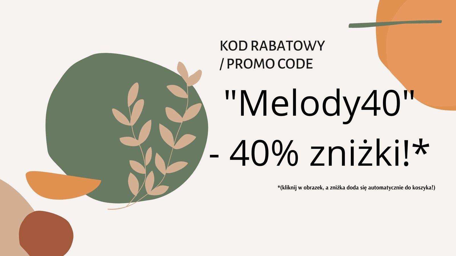 7 kod rabatowy, promo code, promocode melody40 rosental organics 40% znizki na zakupy