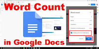 How to check word count on google docs?
