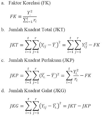 Completely Randomized Design: Rancangan Acak Lengkap (RAL)