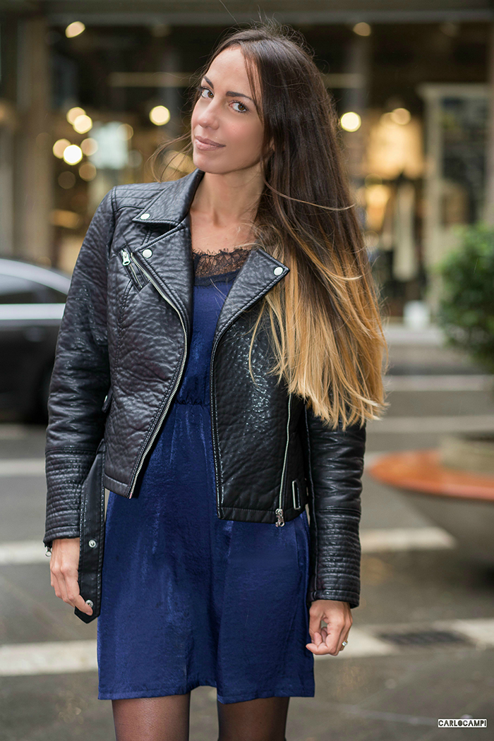 abito sottoveste giacca pelle