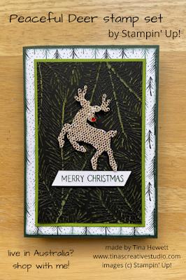 Peaceful Deer on pastels card
