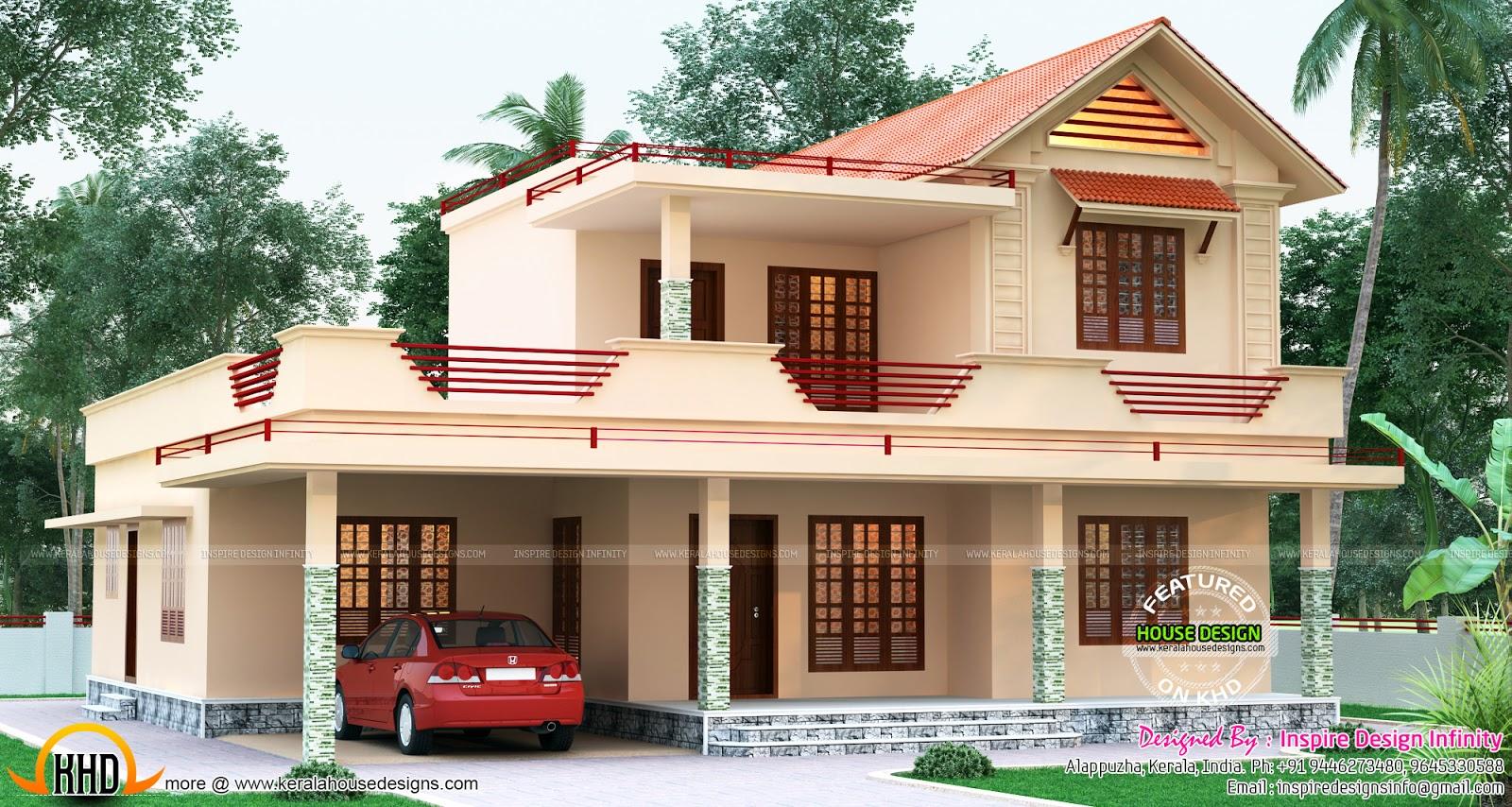 Beautiful Two Storied Villa 2450 Sq Ft Kerala Home