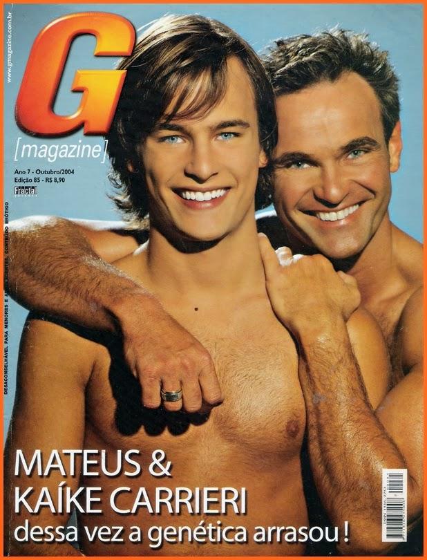 Mateus e Kaíke Carrieri na G Magazine - Outubro de 2004
