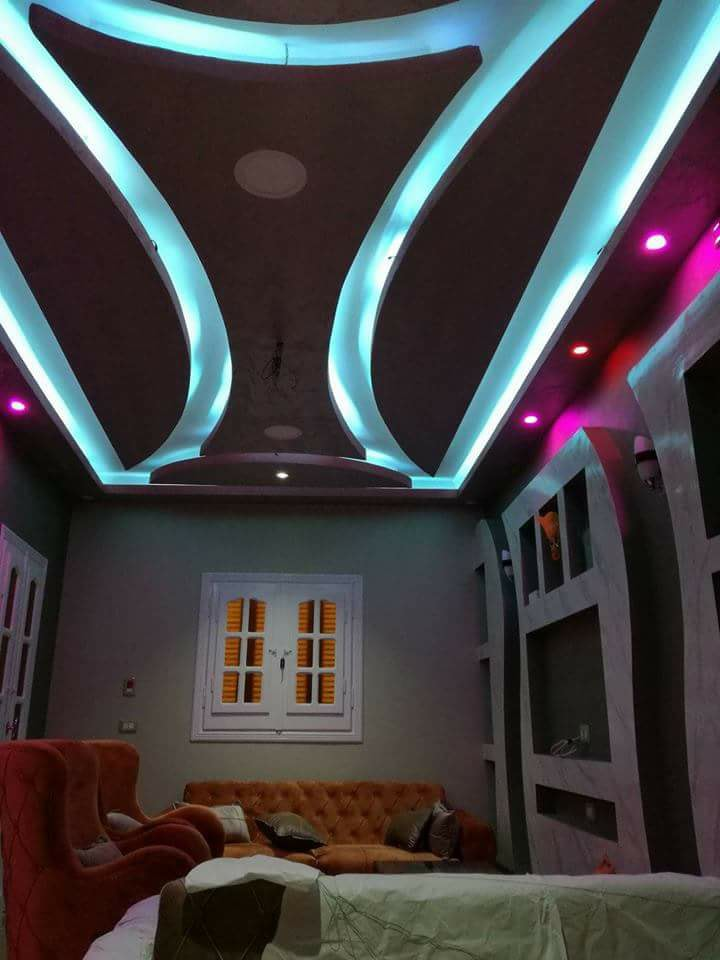 Top 100 Gypsum board false ceiling designs for living room ...