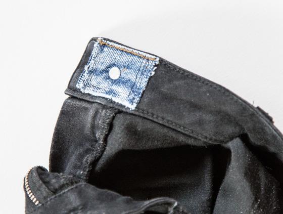 Ompele vanhoista farkuista nappi toisiin farkkuihin