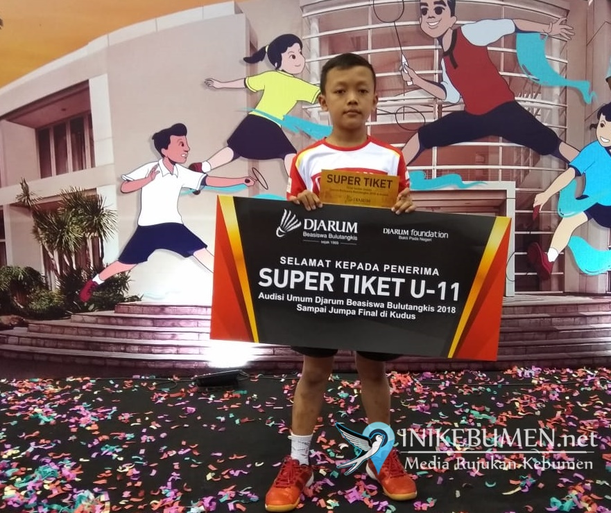 Faizal Pangestu, Pebulutangkis Junor Kebumen Lolos Audisi Umum Djarum