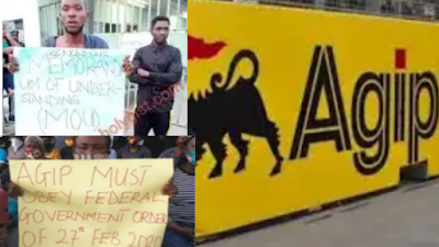Soldiers Strip Old Women, Men, Open Fire At People Protesting At Agip Oil Company In Rivers