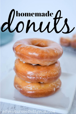 stack of glazed donuts made from scratch