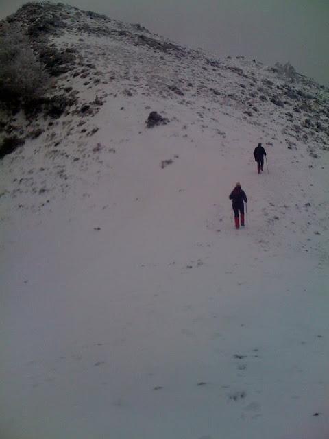 Subiendo el último tramo de la montaña