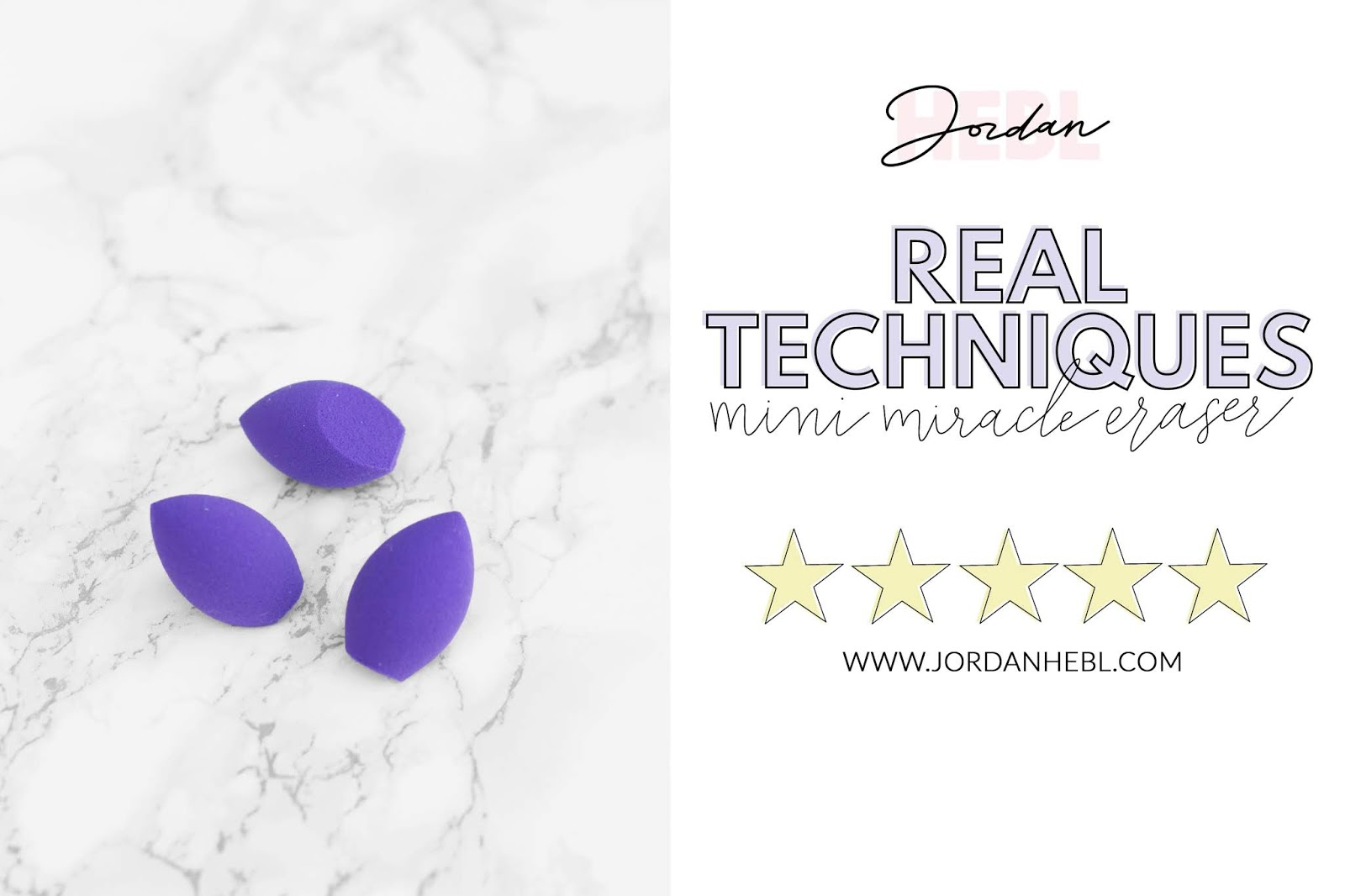 real techniques mini purple sponge, comparing makeup sponges, purple mini makeup sponge with marble background, beauty comparisons, beauty blogger