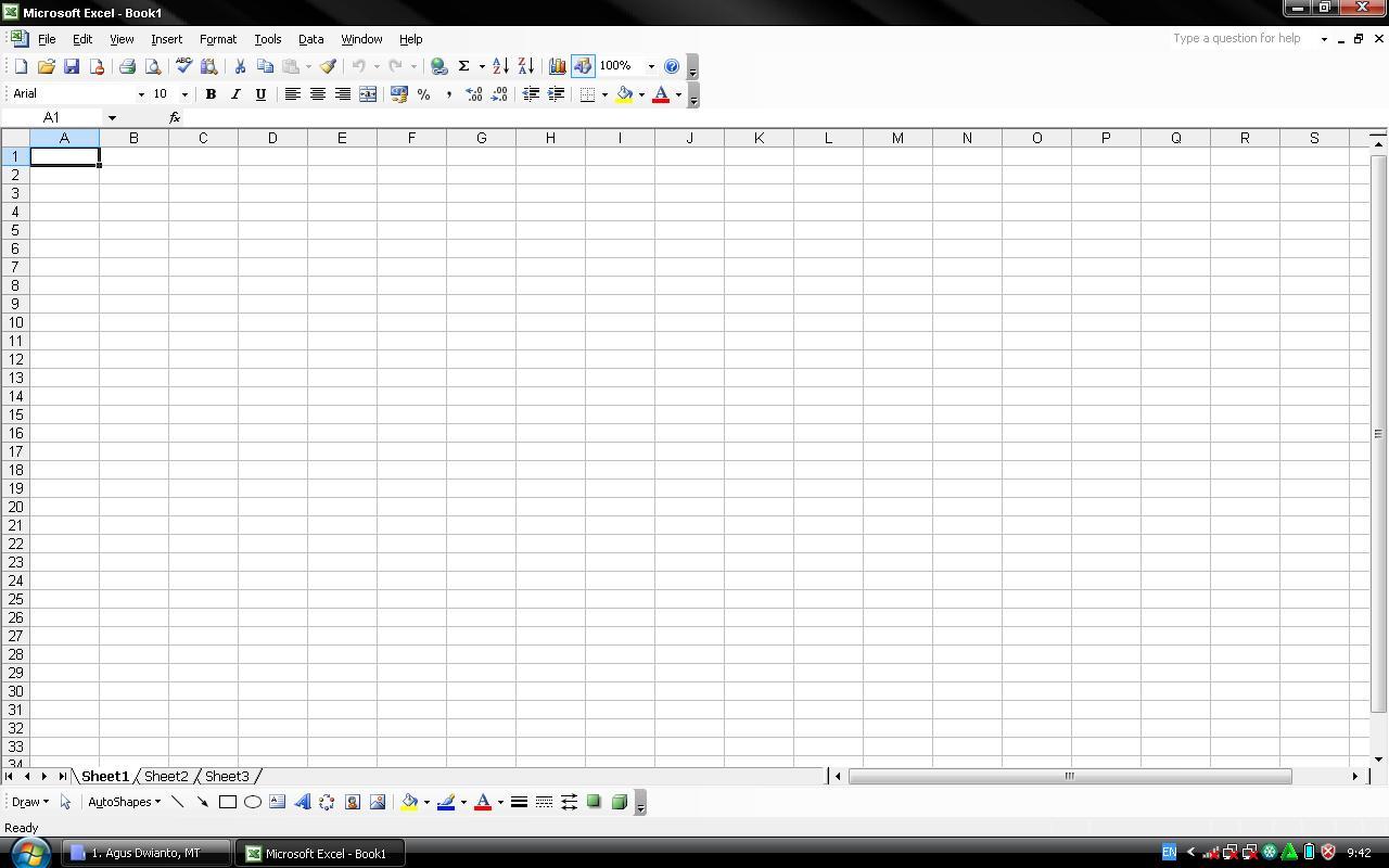 Fungsi Toolbar Drawing Pada Microsoft Excel