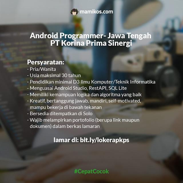 Lowongan Full Time Bulan Agustus Android Programmer