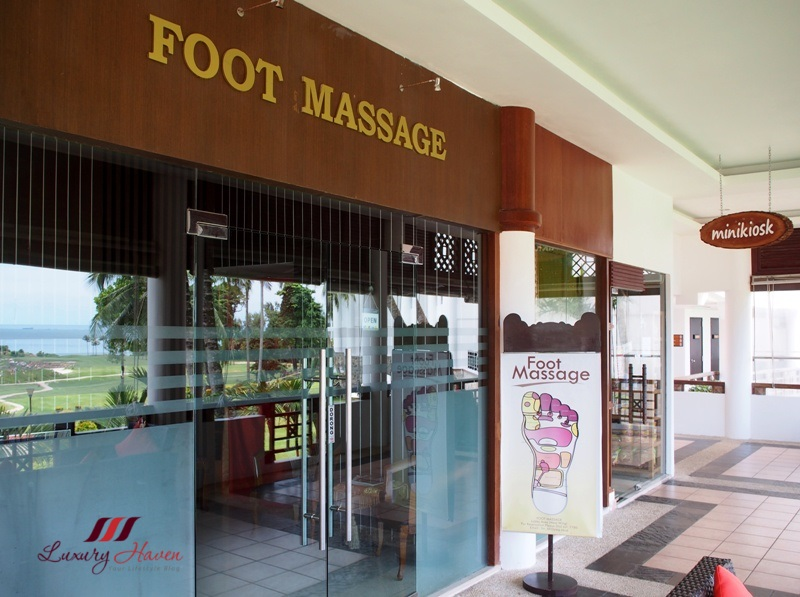 indonesia island bintan lagoon resort foot massage