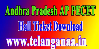 Andhra Pradesh AP PECET APPECET 2017 Hall Ticket Download