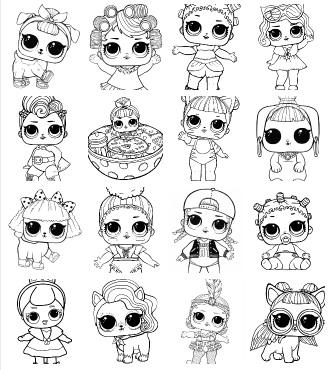 Desenhos Para Colorir Das Bonecas Lol Surpresa Desenhos