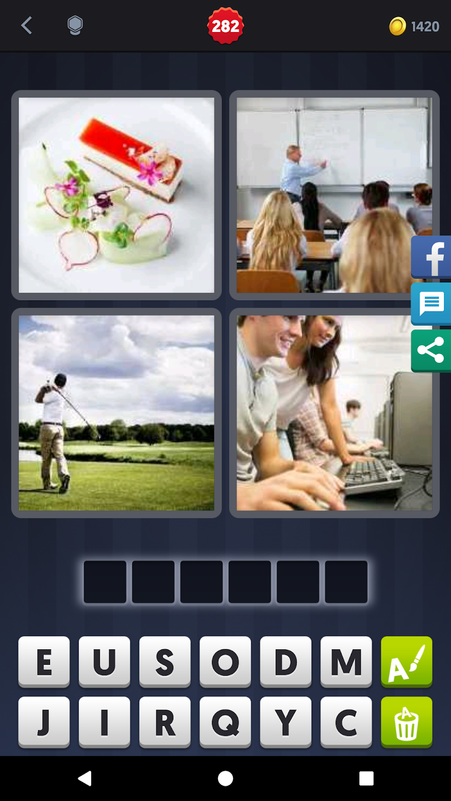 4 Pics 1 Word Answers Solutions Level 282 Course