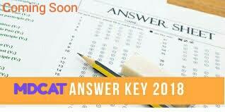 MDCAT Answer Key 2018 23rd September