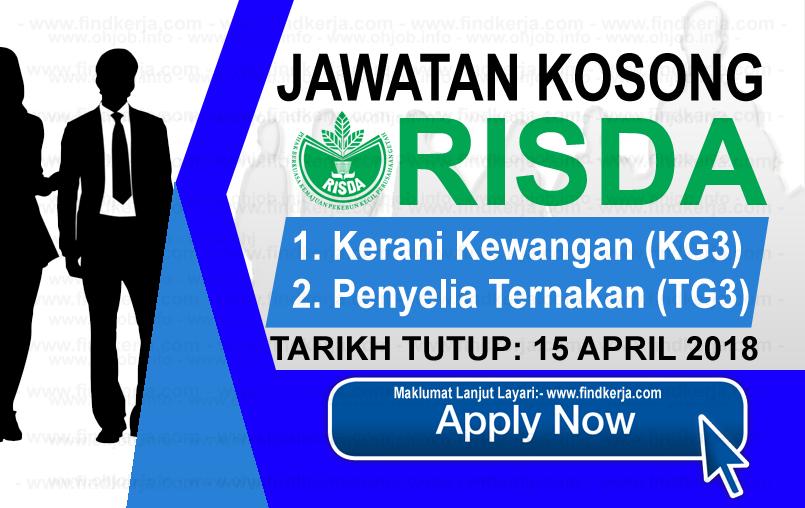 Jawatan Kerja Kosong RISDA - Pihak Berkuasa Kemajuan Pekebun Kecil Perusahaan Getah logo www.findkerja.com april 2018