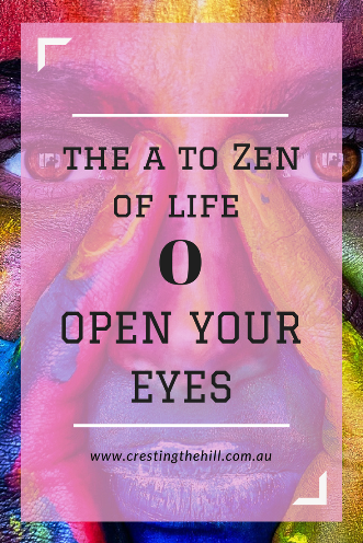 #AtoZChallenge - 2018 and O for Open Your Eyes