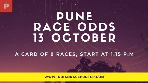 Pune Race Odds 13 October