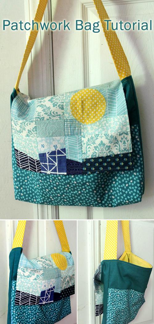 Patchwork Messenger Bag Tutorial