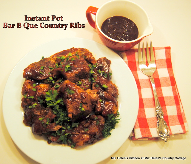 Instant Pot Bar B Que Country Ribs