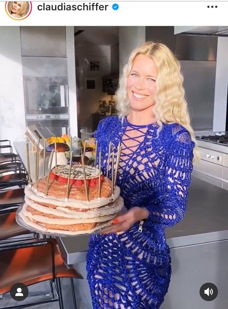 Claudia Schiffer cumplió 50